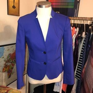 Loft royal purple tailored blazer 0p jacket petite